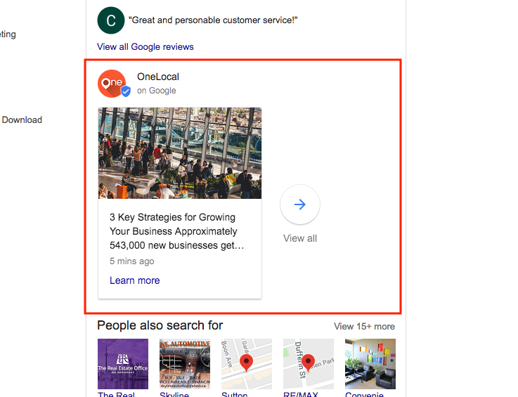 Google My Business Posts is another method of publishing your content