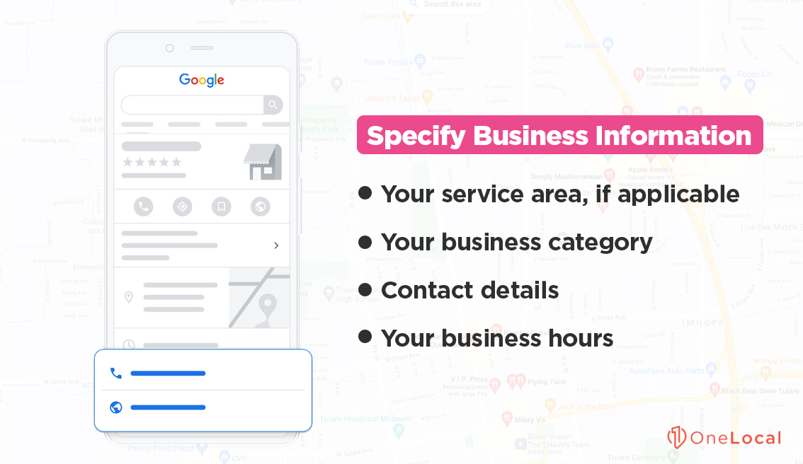 Specify Business Information